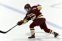 WORCESTER, MA - JANUARY 16: Cecily Hetzel #29 of Boston College takes a shot during a game between Boston College and Holy Cross at Hart Center Rink on January 16, 2021 in Worcester, Massachusetts.