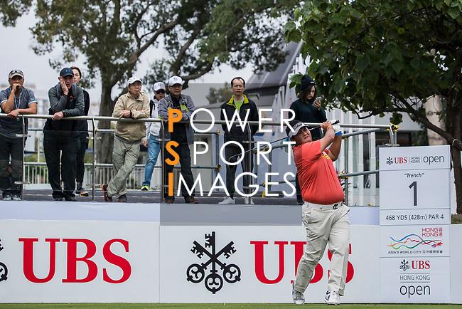 Prom Meesawat of Thailand tees off during the day two of UBS Hong Kong Open 2017 at the Hong Kong Golf Club on 24 November 2017, in Hong Kong, Hong Kong. Photo by Yu Chun Christopher Wong / Power Sport Images