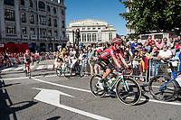 red jersey (overall leader) Primoz Roglic (SVK/Jumbo-Visma)<br /> <br /> Stage 14: San Vicente de la Barquer to Oviedo (188km)<br /> La Vuelta 2019<br /> <br /> ©kramon