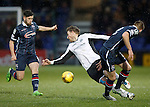 Ross County v St Johnstone...05.12.15  SPFL  Dingwall<br /> David Wotherspoon is fouled by Marcus Fraser<br /> Picture by Graeme Hart.<br /> Copyright Perthshire Picture Agency<br /> Tel: 01738 623350  Mobile: 07990 594431