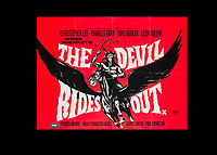 BNPS.co.uk (01202) 558833. <br /> Pic: SpecialAuctionServices/BNPS<br /> <br /> A poster for The Devil rides out staring Christopher Lee<br /> <br /> A collection of rare movie posters that have been sat gathering dust in a garage have sold at auction for £6,500.<br /> <br /> The 32 sheets date from the 1950s to the '70s and promote classic movies such as Frankenstein and Christopher Lee's Dracula.<br /> <br /> The vendor had owned the posters for several years after she had inherited them from a relative.