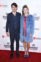 """director, Jack Eve and Hermione Corfield<br /> arriving for the World premiere of """"Bees Make Honey"""" at the Vue West End, Leicester Square, London<br /> <br /> <br /> ©Ash Knotek  D3314  23/09/2017"""