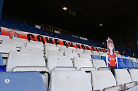 17th October 2020; Kenilworth Road, Luton, Bedfordshire, England; English Football League Championship Football, Luton Town versus Stoke City; A cardboard cutout of a fan is seen in the stands