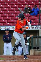 Bowling Green Hot Rods outfielder Grant Witherspoon (22) at bat during a Midwest League game against the Cedar Rapids Kernels on May 2, 2019 at Perfect Game Field in Cedar Rapids, Iowa. Bowling Green defeated Cedar Rapids 2-0. (Brad Krause/Four Seam Images)