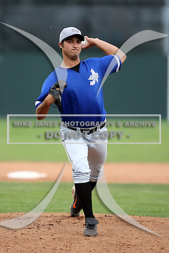 July 14th 2008:  Pitcher Stephen Procner of the Aberdeen Ironbirds, Class-A affiliate of the Baltimore Orioles, during a game at Dwyer Stadium in Batavia, NY.  Photo by:  Mike Janes/Four Seam Images
