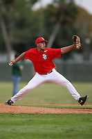 February 22, 2009:  Pitcher Miguel Valcarcel (8) of St. John's University during the Big East-Big Ten Challenge at Naimoli Complex in St. Petersburg, FL.  Photo by:  Mike Janes/Four Seam Images