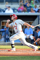 Palm Beach Cardinals second baseman Jacob Wilson (4) during a game against the Charlotte Stone Crabs on April 12, 2014 at Charlotte Sports Park in Port Charlotte, Florida.  Palm Beach defeated Charlotte 6-2.  (Mike Janes/Four Seam Images)