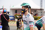 Pascal Ackermann (GER) Bora-Hansgrohe at sign on before the start of Stage 5 of the 2021 UAE Tour running 170km from Fujairah to Jebel Jais, Fujairah, UAE. 25th February 2021.  <br /> Picture: Eoin Clarke   Cyclefile<br /> <br /> All photos usage must carry mandatory copyright credit (© Cyclefile   Eoin Clarke)