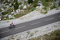 Warren Barguil (FRA/Arkea-Samsic) up the finish climb & the highest peak of the 2020 #TdF: the Col de la Loze (HC/2304m/21,5km @7,8%)<br /> <br /> Stage 17 from Grenoble to Méribel - Col de la Loze (170km)<br /> <br /> 107th Tour de France 2020 (2.UWT)<br /> (the 'postponed edition' held in september)<br /> <br /> ©kramon