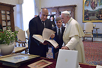 Pope Francis meets with Bojko Borissov prime minister of Bulgaria at the Vatican on May 25, 2018