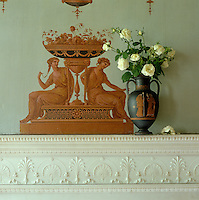 A detail from the walls of the Etruscan Dressing Room at Osterley Park painted by Robert Adam's decorative artist Pietro Mario Borgnis