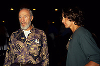 Montreal (Qc) CANADA, 1993 File Photo -<br /> <br /> Former Canadian Prime Minister ; Pierre E. Trudeau and Justin, one of his son at the World Film Festival.<br /> <br /> <br /> photo (c) Pierre Roussel -  Images Distribution