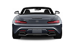 Straight rear view of a 2019 Mercedes Benz AMG GT base 2 Door Roadster stock images