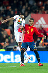 Norway's Haitam Aleesami and Spain's Rodrigo Moreno  during the qualifying match for Euro 2020 on 23th March, 2019 in Valencia, Spain. (ALTERPHOTOS/Alconada)