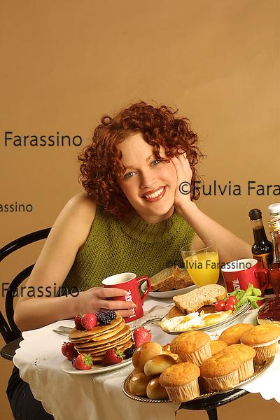 Girl during brunch