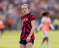 EAST HARTFORD, CT - JULY 5: Rose Lavelle #16 of the USWNT walks off the field during a game between Mexico and USWNT at Rentschler Field on July 5, 2021 in East Hartford, Connecticut.