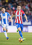 Gabriel Fernandez Arenas, Gabi, of Atletico de Madrid is chased by Unai Lopez of Deportivo Leganes during their La Liga match between Atletico de Madrid and Deportivo Leganes at the Vicente Calderón Stadium on 04 February 2017 in Madrid, Spain. Photo by Diego Gonzalez Souto / Power Sport Images