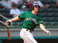 3 September 2007: Reid Engel of the Greenville Drive, Class A South Atlantic League affiliate of the Boston Red Sox, in a game against the Asheville Tourists at West End Field in Greenville, S.C. Photo by:  Tom Priddy/Four Seam Images