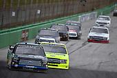 #00: Angela Ruch, Reaume Brothers Racing, Toyota Tundra, #88: Matt Crafton, ThorSport Racing, Ford F-150 Ideal Door/Menards