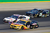 #14: Clint Bowyer, Stewart-Haas Racing, Ford Mustang Rush Truck Centers / Haas Automation, #11: Denny Hamlin, Joe Gibbs Racing, Toyota Camry FedEx Freight and #15: Ross Chastain, Premium Motorsports, Chevrolet Camaro