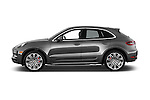 Car driver side profile view of a 2018 Porsche Macan Turbo 5 Door SUV