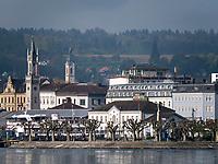 Blick vom See auf Altstadt von Konstanz, Baden-Württemberg, Deutschland, Europa<br /> Historic city of Constance, Baden-Württemberg, Germany, Europe