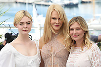 ELLE FANNING, NICOLE KIDMAN AND KIRSTEN DUNST - PHOTOCALL OF THE FILM 'THE BEGUILED' AT THE 70TH FESTIVAL OF CANNES 2017