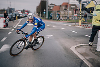 Niki Terpstra (NED/Quick-Step Floors) solo's to victory in the finale towards Harelbeke<br /> <br /> 61th E3 Harelbeke (1.UWT)<br /> Harelbeke - Harelbeke (206km)