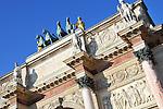 The Arc de Triomphe du Carrousel in Paris, France built between 1806-1808.
