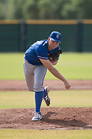 Kansas City Royals relief pitcher Glenn Sparkman (28) follows through on his delivery during an Instructional League game against the San Francisco Giants at the Giants Training Complex on October 17, 2017 in Scottsdale, Arizona. (Zachary Lucy/Four Seam Images)