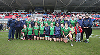Tuesday 3rd April 2018 | Malone Women vs Ballynahinch Women<br /> <br /> The Ballynahinch Womens team during the Easter Tuesday Ulster Womens final between Malone and Ballynahinch at Kingspan Stadium, Ravenhill Park, Belfast, Northern Ireland. Photo by John Dickson / DICKSONDIGITAL