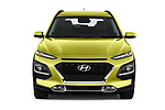Car photography straight front view of a 2018 Hyundai Kona Luxury Launch 5 Door SUV