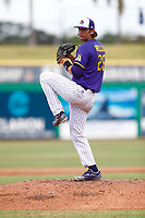 East Carolina Pirates pitcher Gavin Williams (26) during a game against the Memphis Tigers on May 28, 2021 at BayCare Ballpark in Clearwater, Florida.  (Nathan Ray/Four Seam Images)