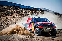 6th January 2021; Wadi Al Dawasir to Riyadh, Saudia Arabia; Dakar 2021 Rally, stage 4;  307 Przygonski Jakub (pol), Gottschalk Timo (deu), Toyota, Overdrive Toyota, Auto, action during the 4th stage of the Dakar 2021 between Wadi Al Dawasir and Riyadh, in Saudi Arabia on January 6, 2021