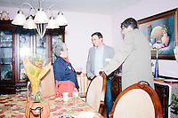 """People talk with one another after Texas senator and Republican presidential candidate Ted Cruz spoke at an event called """"Smoke a cigar with Ted Cruz"""" at a house party at the home of Linda & Steven Goddu Salem, New Hampshire. Cruz briefly smoked a cigar after speaking at the event."""