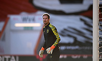 31st October 2020; Vitality Stadium, Bournemouth, Dorset, England; English Football League Championship Football, Bournemouth Athletic versus Derby County; Asmir Begovic of Bournemouth warms up