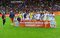 Players of team USA react during the FIFA Women's World Cup Final USA against Japan at the FIFA Stadium in Frankfurt, Germany on July 17th, 2011.