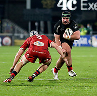Sunday 22nd November 2020 | Ulster vs Scarlets<br /> <br /> Tom O'Toole is tackled by Danny Drake during the Guinness PRO14 Round 7 clash between Ulster Rugby and Scarlets at Kingspan Stadium, Ravenhill Park, Belfast, Northern Ireland. Photo by John Dickson / Dicksondigital