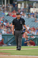 Umpire Luis Hernandez during a Texas League game between the Amarillo Sod Poodles and Frisco RoughRiders on July 13, 2019 at Dr Pepper Ballpark in Frisco, Texas.  (Mike Augustin/Four Seam Images)
