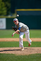 Pitcher Michael Prosecky (15) during the Dominican Prospect League Elite Underclass International Series, powered by Baseball Factory, on August 31, 2017 at Silver Cross Field in Joliet, Illinois.  (Mike Janes/Four Seam Images)