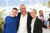 MATTHIEU LUCCI, DIRECTOR LAURENT CANTET AND MARINA FOIS - PHOTOCALL OF THE FILM 'L'ATELIER' AT THE 70TH FESTIVAL OF CANNES 2017