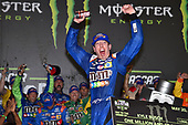 Monster Energy NASCAR Cup Series<br /> Monster Energy NASCAR All-Star Race<br /> Charlotte Motor Speedway, Concord, NC USA<br /> Saturday 20 May 2017<br /> Kyle Busch, Joe Gibbs Racing, M&M's Caramel Toyota Camry, Celebrates in Victory Lane.<br /> World Copyright: Rusty Jarrett<br /> LAT Images<br /> ref: Digital Image 17CLT1jh_05327