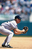 OAKLAND, CA: Wade Boggs of the New York Yankees in action during a game against the Oakland Athletics at the Oakland Coliseum in Oakland, California in 1994. (Photo by Brad Mangin).