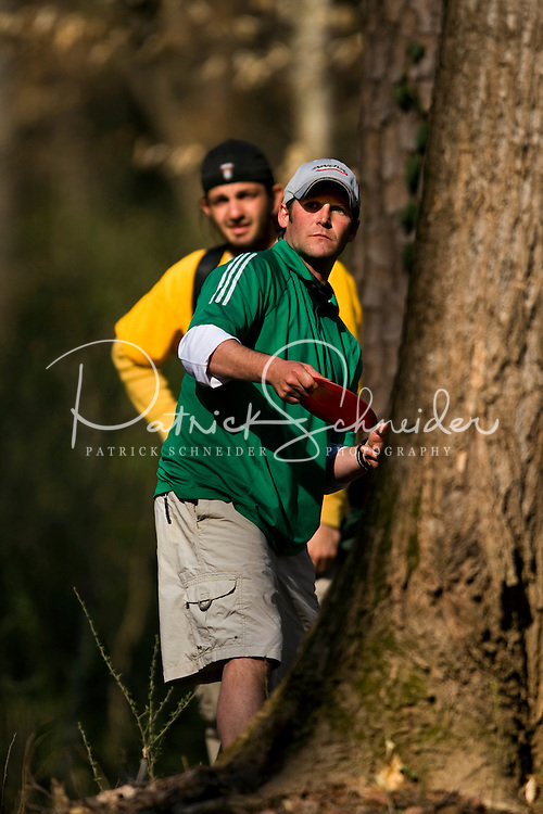 "Charlotte Disc golfers take part in the ""Carolina Clash 2009"" at Hornet's Nest Park, in Charlotte, North Carolina. Photo taken as part of a series of spring scenes in North Carolina by Charlotte photographer Patrick Schneider. Editorial use only (no model releases)"