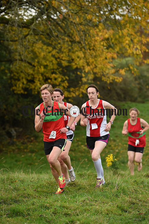 The ladies battle it out at the Clare senior Cross Country finals in Rahaline, Newmarket On Fergus. Photograph by John Kelly.