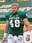 Baylor Bears fullback Erik Wolfe (48) in action during the game between the Stephen F. Austin Lumberjacks and the Baylor Bears at the Floyd Casey Stadium in Waco, Texas. Baylor defeats SFA 48 to 0.