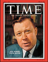 TIME Cover, UAW President Walter Reuther,  June 20, 1955. Photo by John G. Zimmerman.