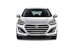 Car photography straight front view of a 2017 Hyundai Elantra Gt 5 Door Hatchback
