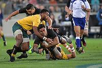 All Blacks' Malakai Fekitoa in action during the All Blacks v Wallabies. The Rugby Championship & Bledisloe Cup at Westpac Stadium, Wellington, New Zealand on Saturday 27 August 2016.<br /> Photo by Masanori Udagawa. <br /> www.photowellington.photoshelter.com.