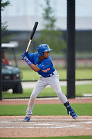 GCL Mets center fielder Stanley Consuegra (59) at bat during a game against the GCL Nationals on August 4, 2018 at FITTEAM Ballpark of the Palm Beaches in West Palm Beach, Florida.  GCL Nationals defeated GCL Mets 7-4.  (Mike Janes/Four Seam Images)